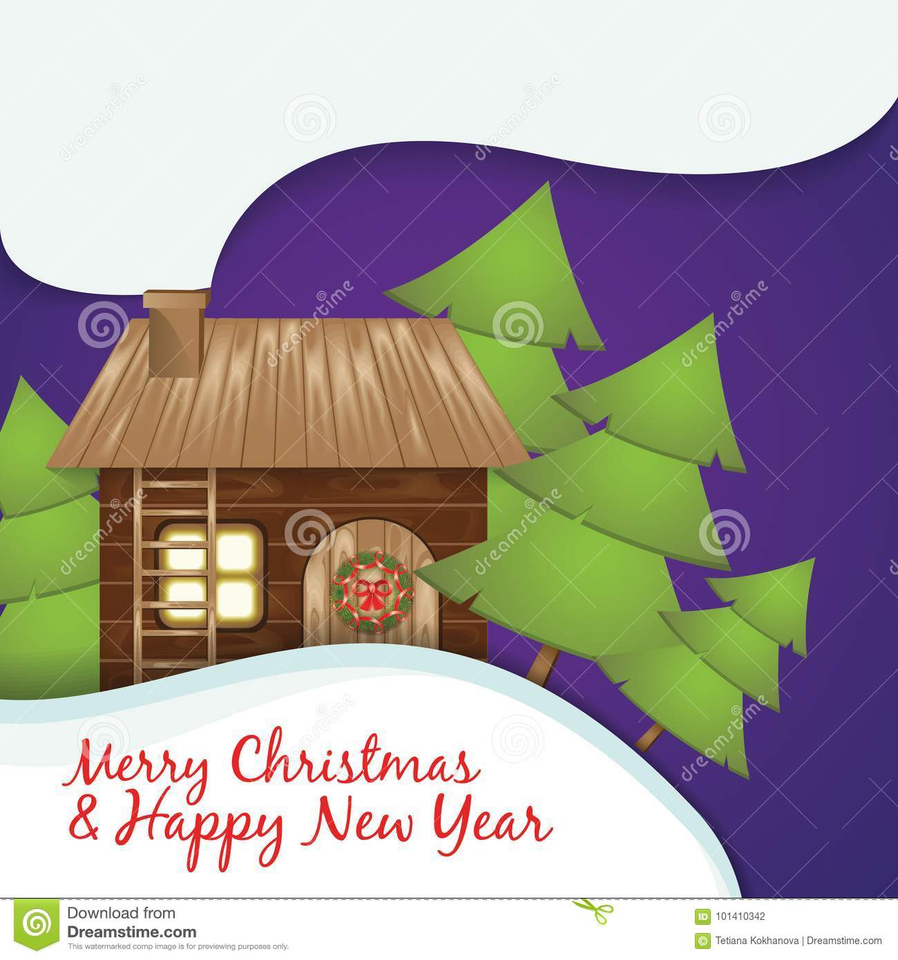 Christmas greeting card stock vector illustration of flat 101410342 download comp m4hsunfo
