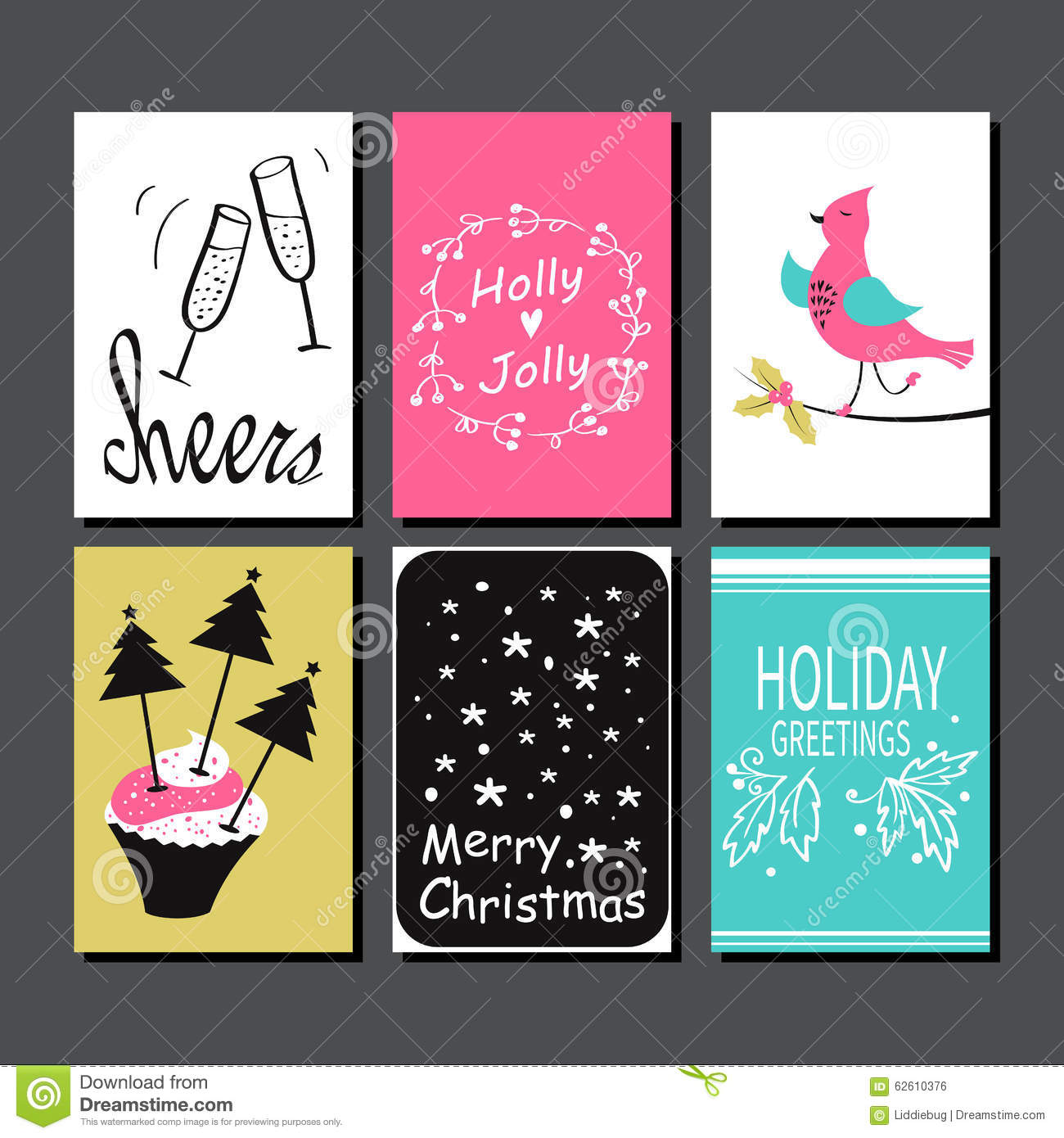 Christmas greeting card collection stock vector illustration of christmas greeting card collection m4hsunfo Images