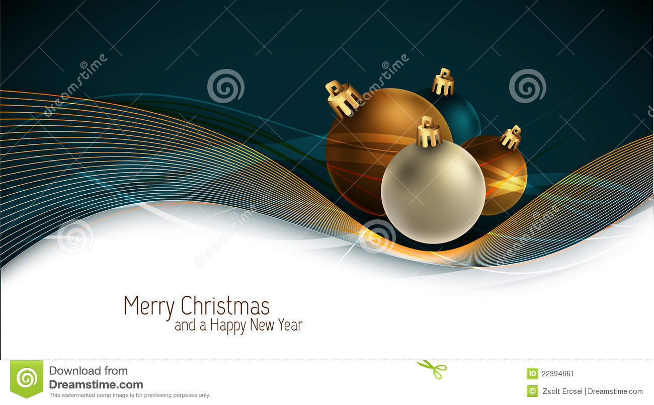 Christmas Greeting Card with Colorful Globes