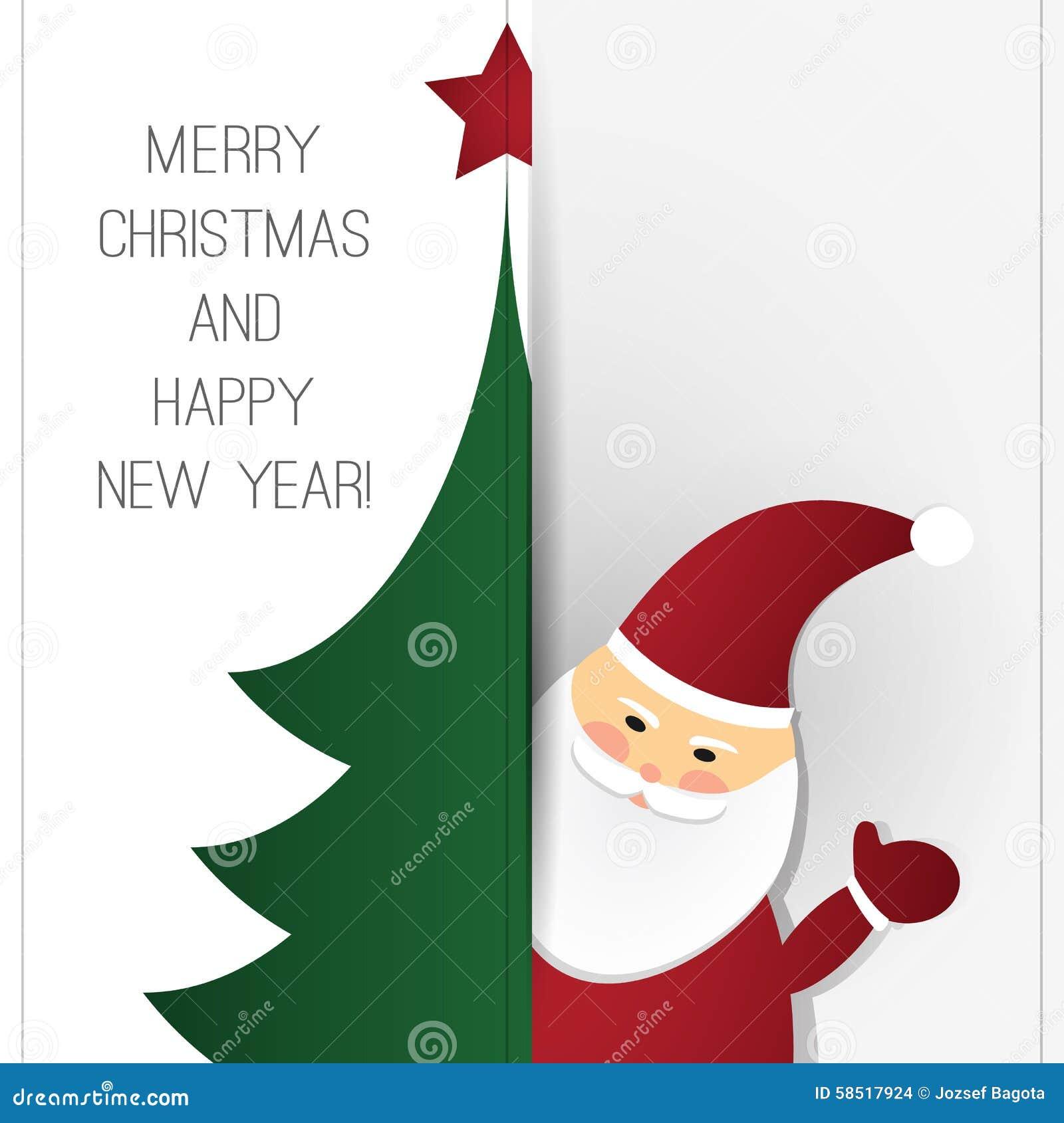 Christmas Greeting Card Design Template Stock Vector Illustration