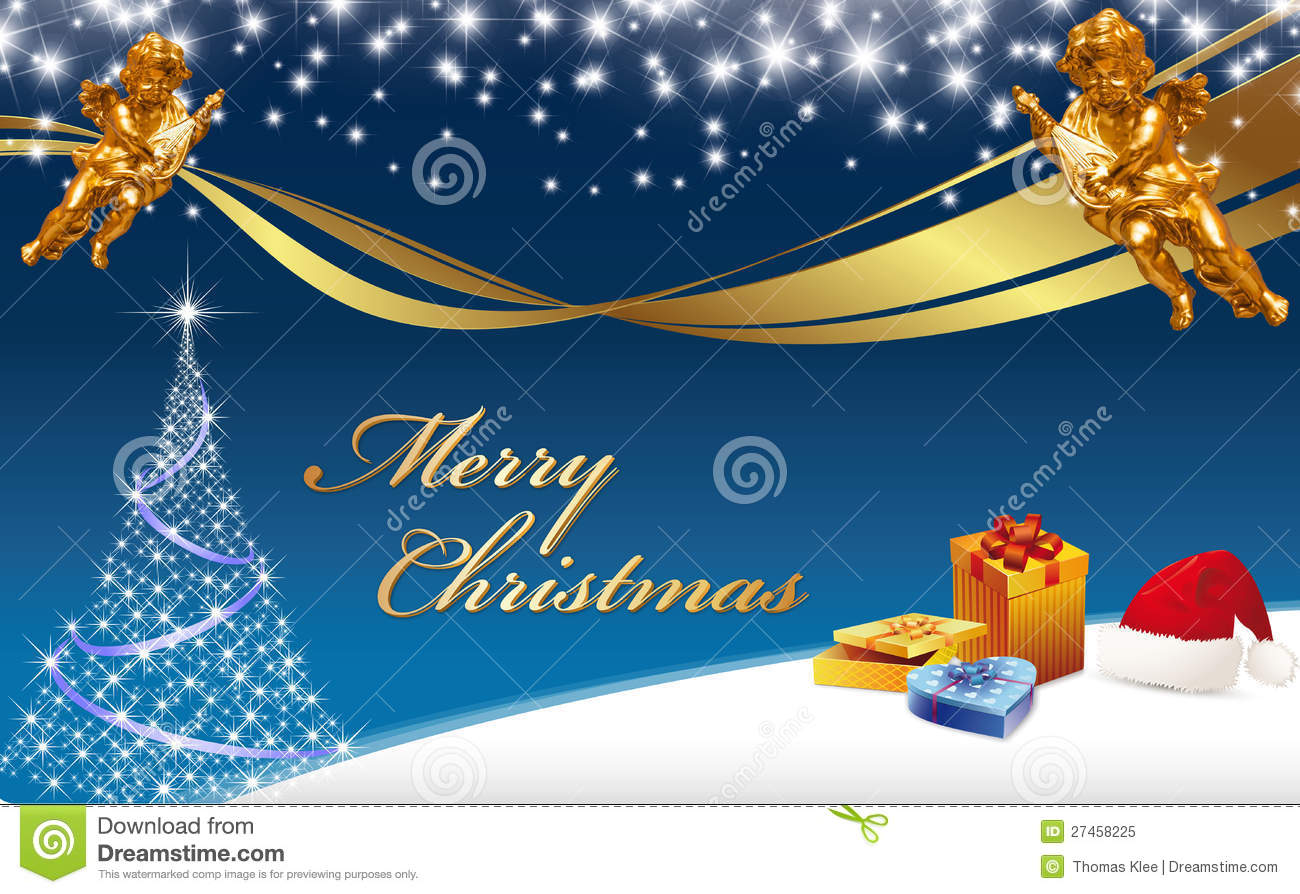 Christmas Greeting Card - Merry Christmas Stock Illustration ...