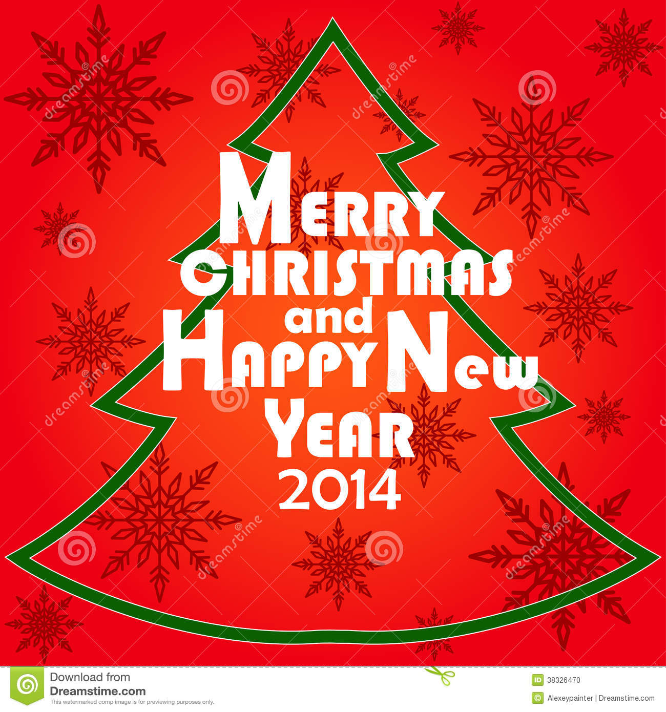 Christmas greeting card merry christmas and happy new year 2014 christmas greeting card merry christmas and happy new year 2014 lettering illustration m4hsunfo