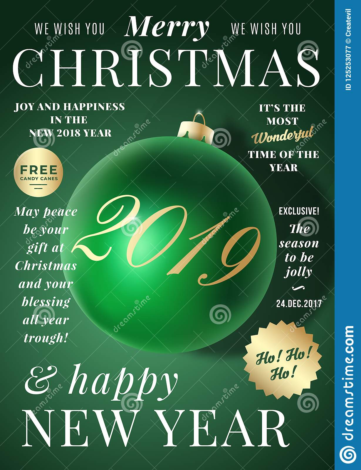 Christmas Greeting Card Poster Banner Or Party Invitation