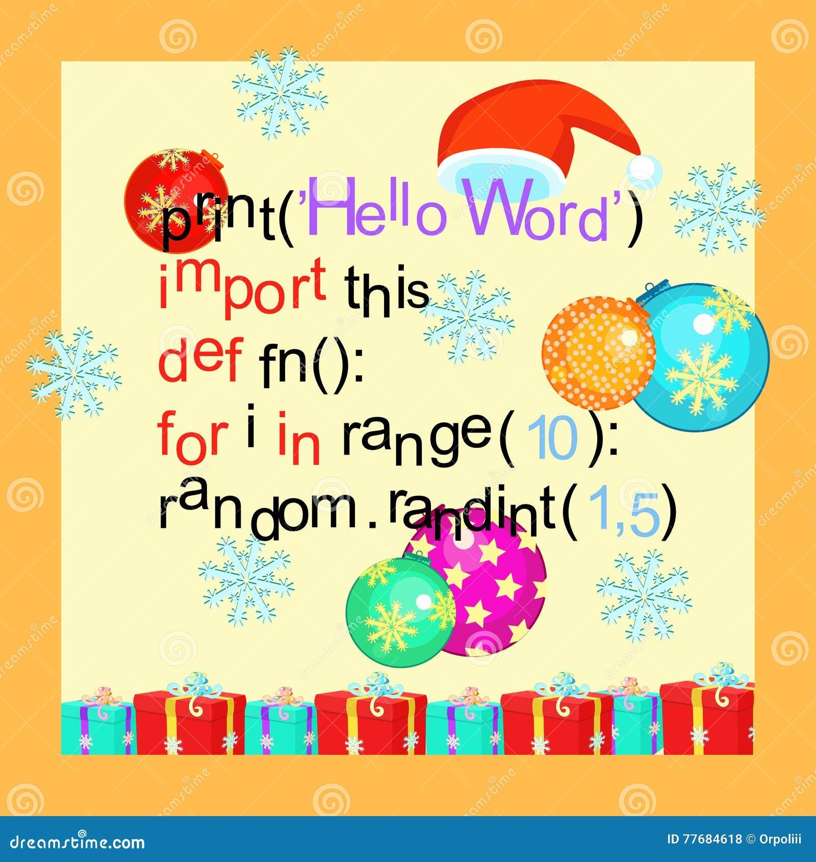 Christmas greeting card programming code snowflake vector illu christmas greeting card programming code snowflake vector illu m4hsunfo