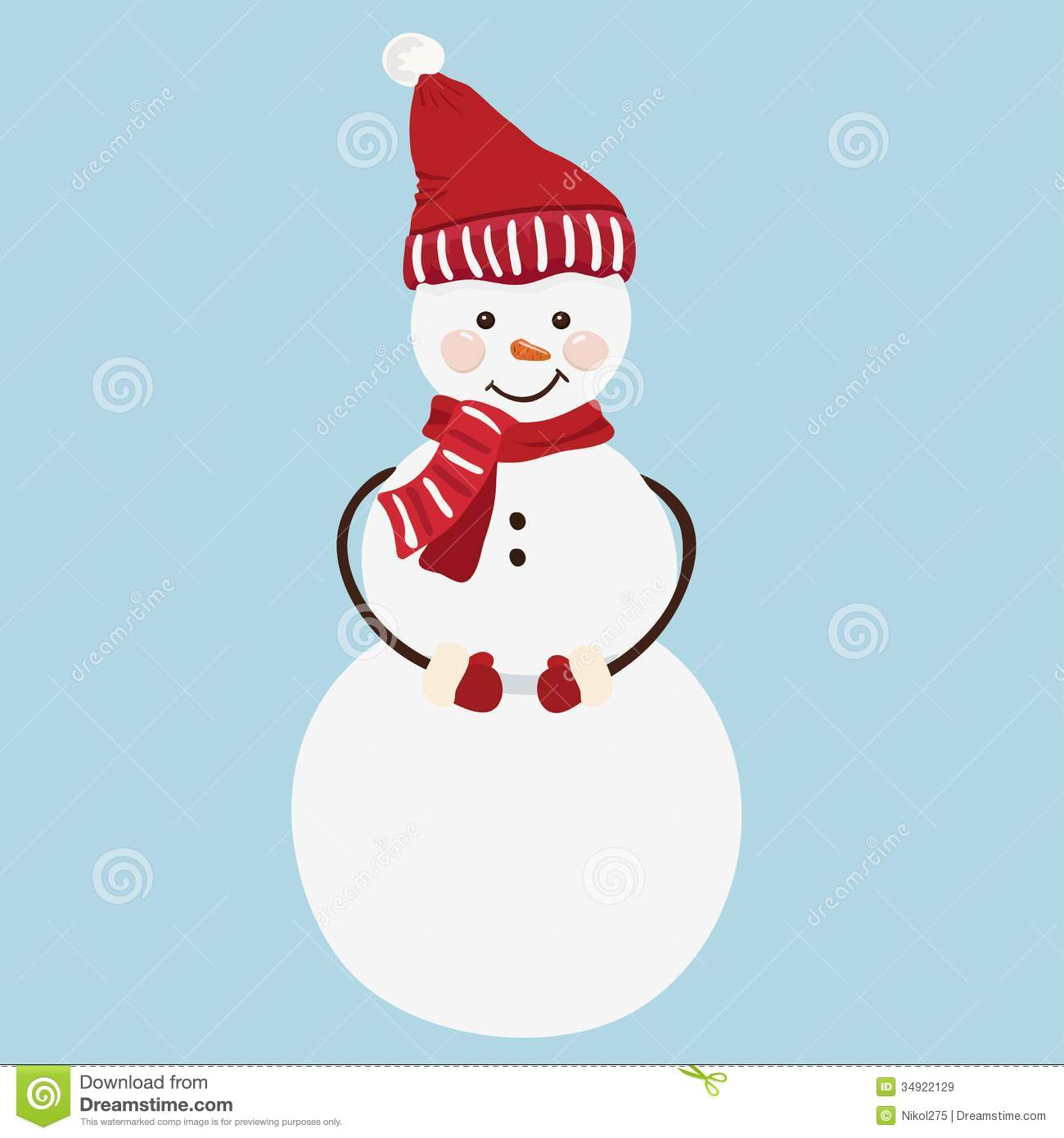 snowman christmas card greeting card with snowman stock vector 2960