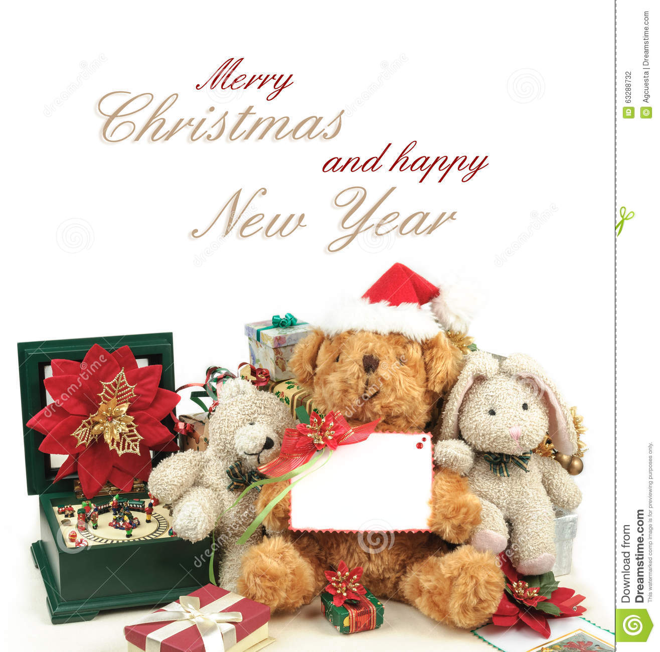 Christmas greeting card with teddy bear gifts friends stock photo download christmas greeting card with teddy bear gifts friends stock photo image of m4hsunfo
