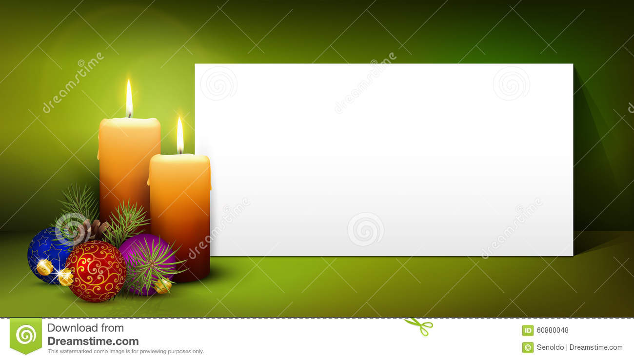 Christmas Greeting Card Template With White Paper Panel Stock Vector - Christmas greeting card template