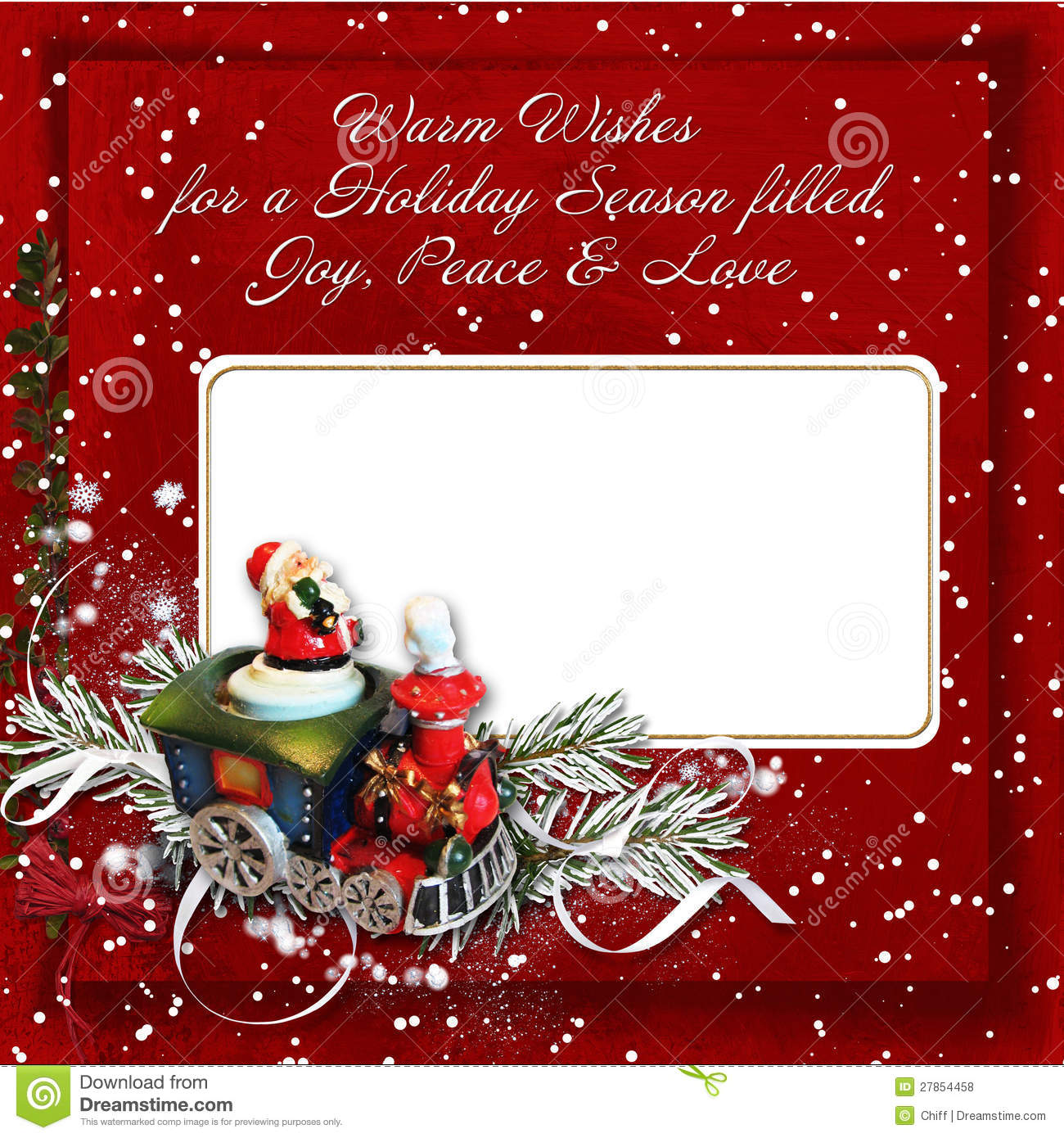 Christmas Greeting Card With Warm Wishes Stock Illustration