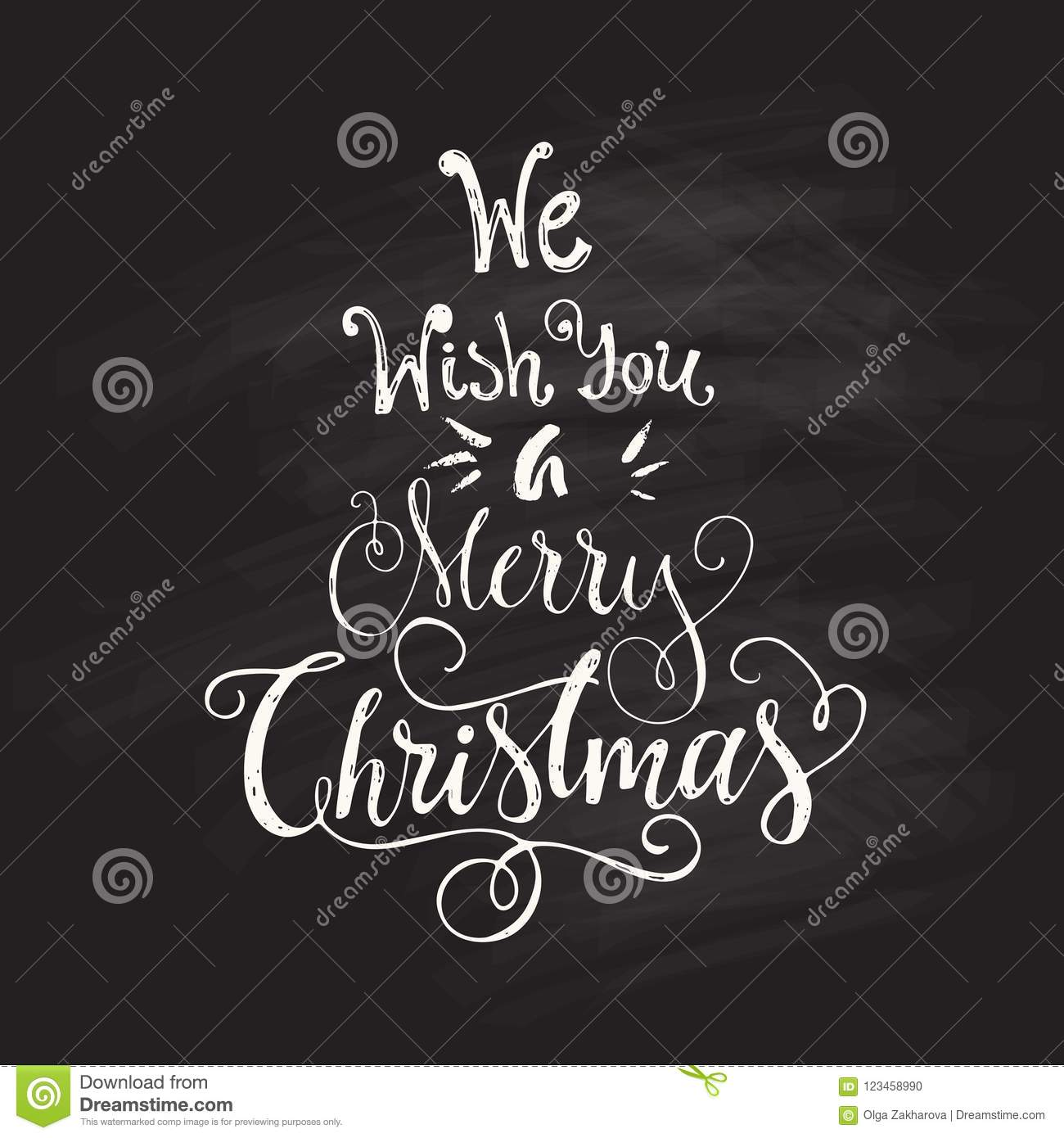 Christmas Greeting Card Stock Vector Illustration Of Rough 123458990