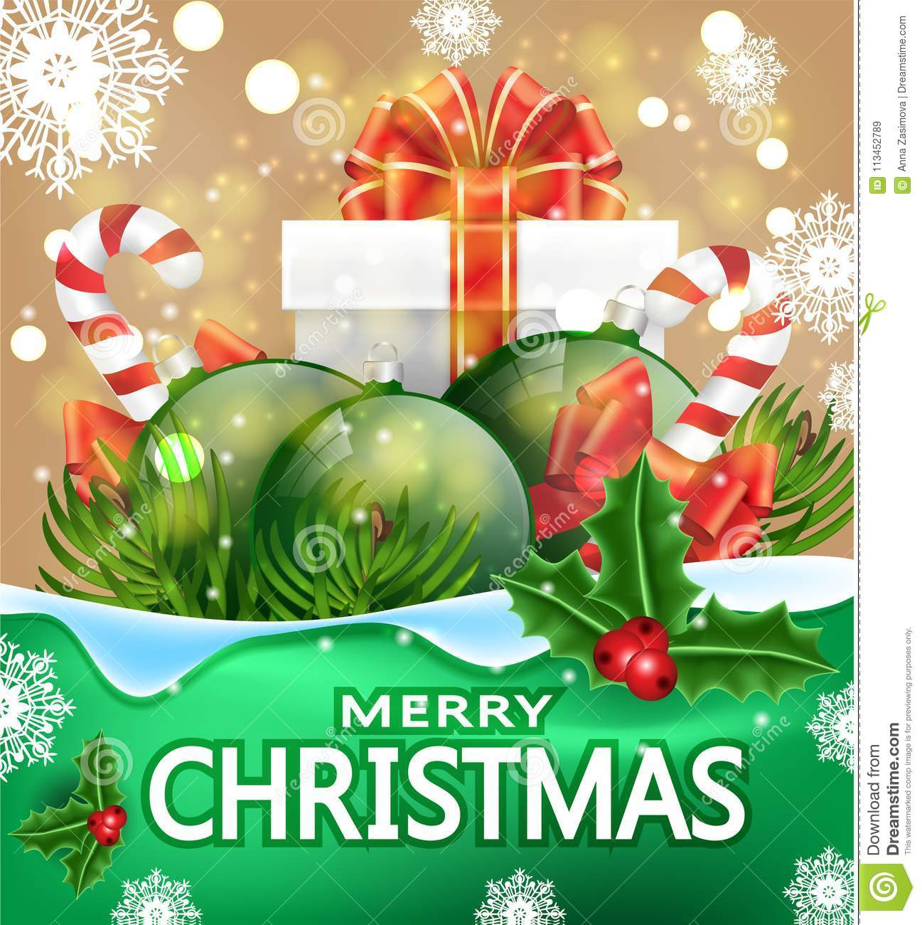 Christmas greeting card with the words merry christmas vector christmas greeting card with the words merry christmas vector banner with gift boxes candy m4hsunfo