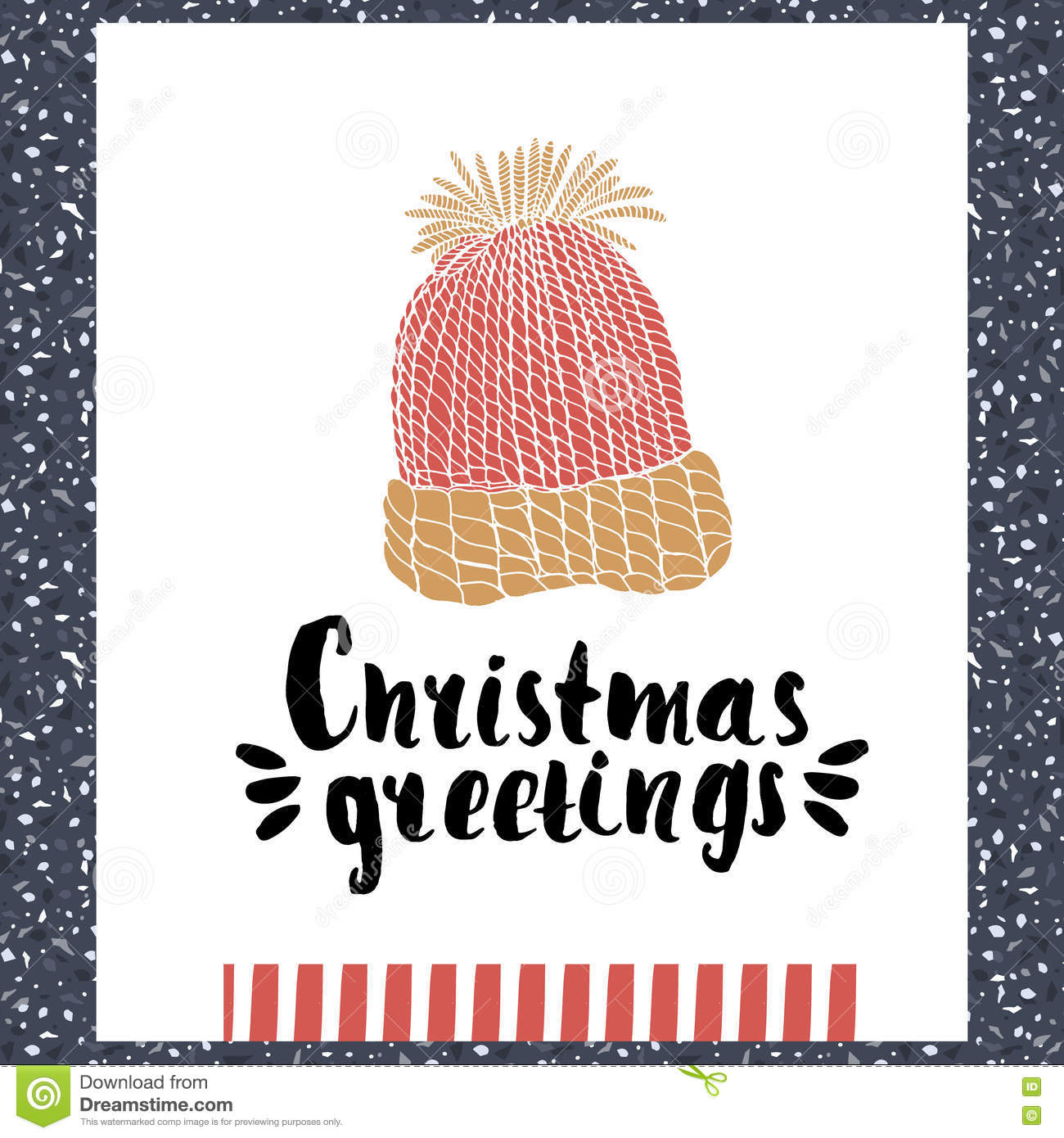 Christmas Greeting Holiday Unique Handwritten Lettering Made With