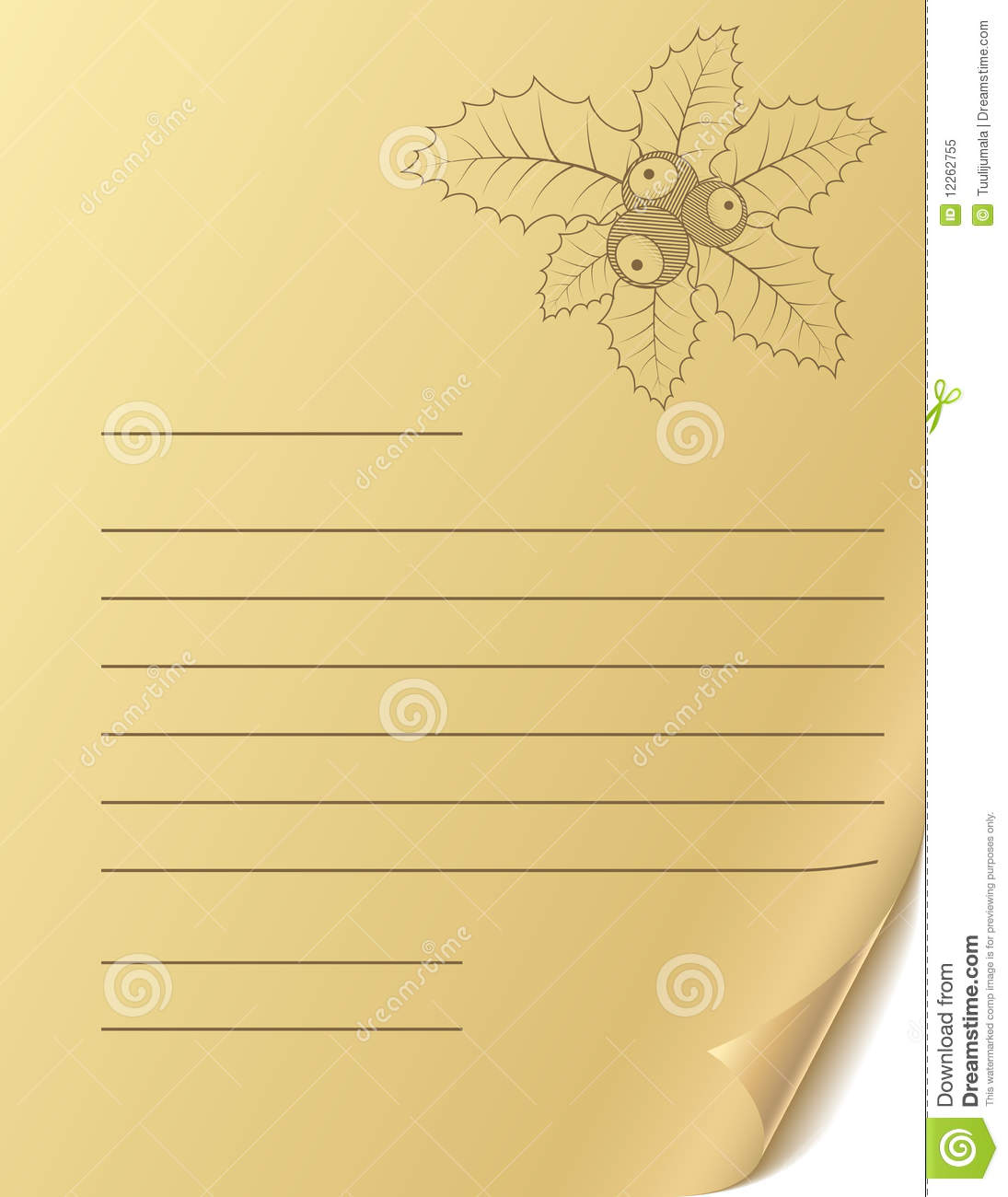 Template Greeting Card Royalty Free Stock Image: Christmas Greeting Letter Royalty Free Stock Photo