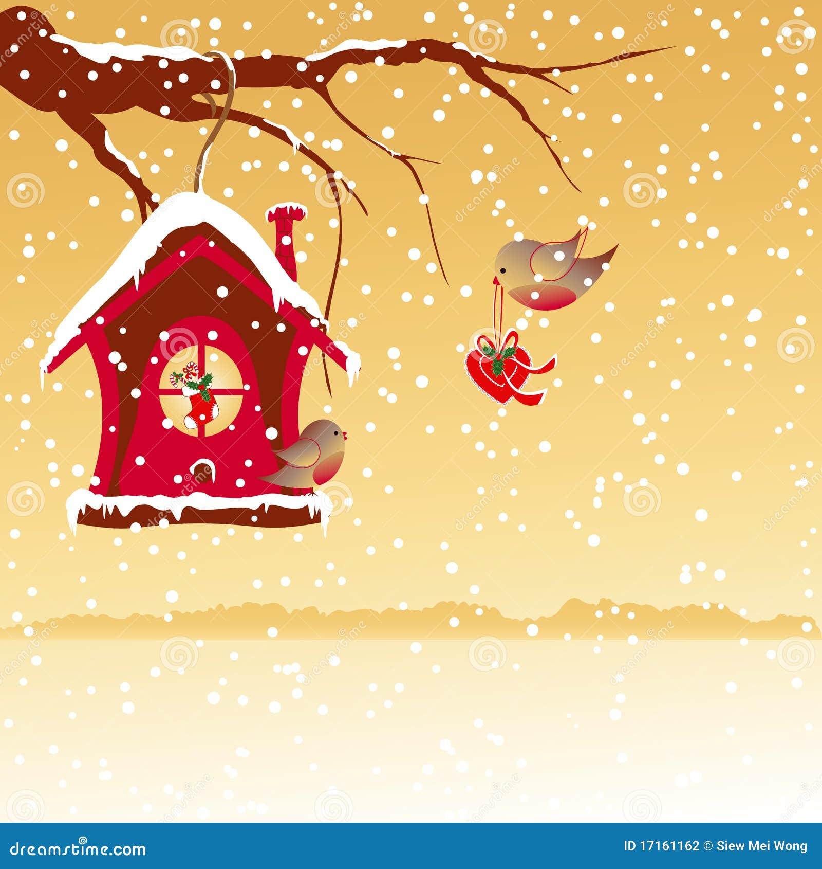 christmas greeting robin bird wallpaper stock vector - illustration