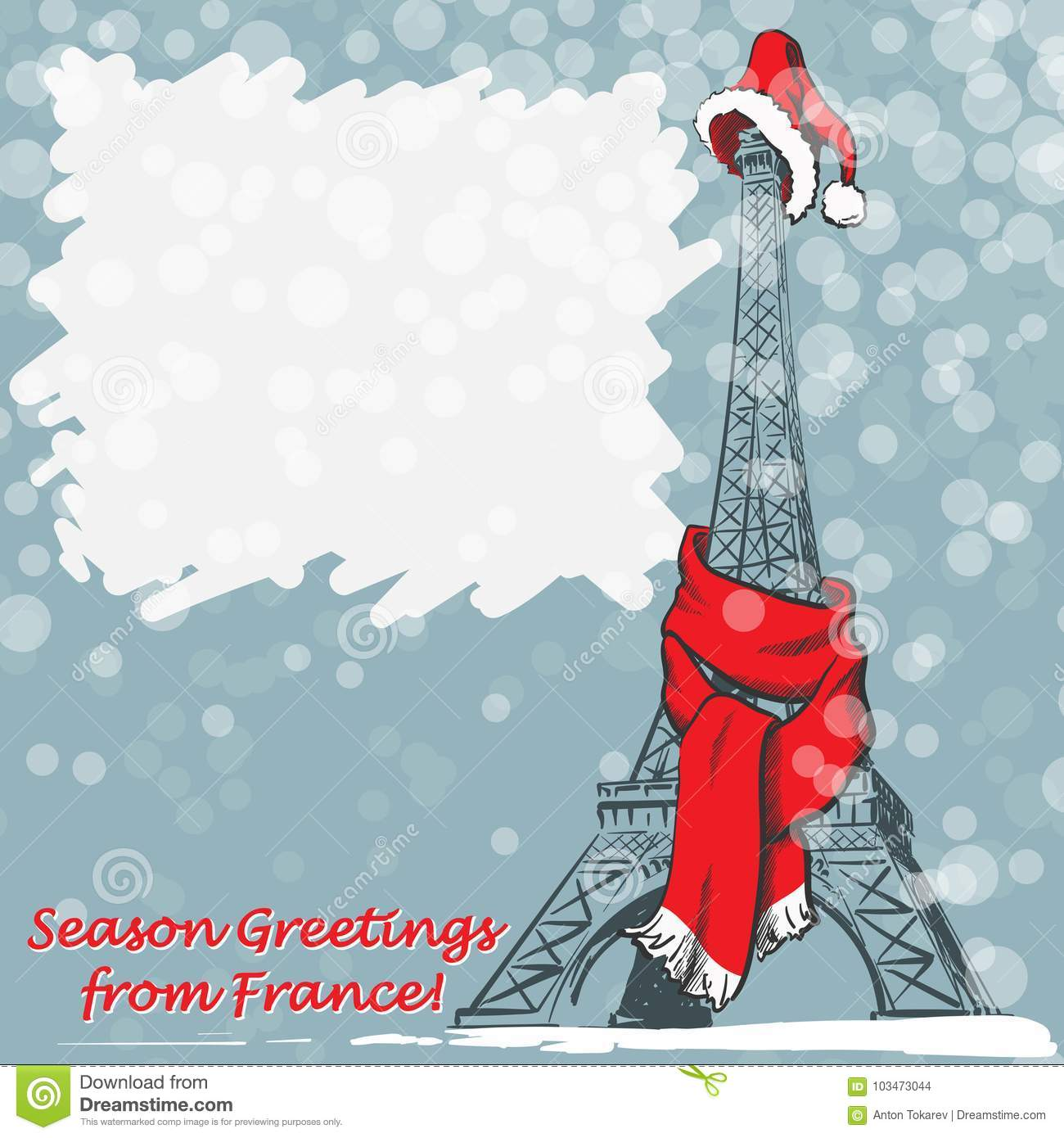 Christmas greetings from france stock vector illustration of tower download christmas greetings from france stock vector illustration of tower french 103473044 m4hsunfo