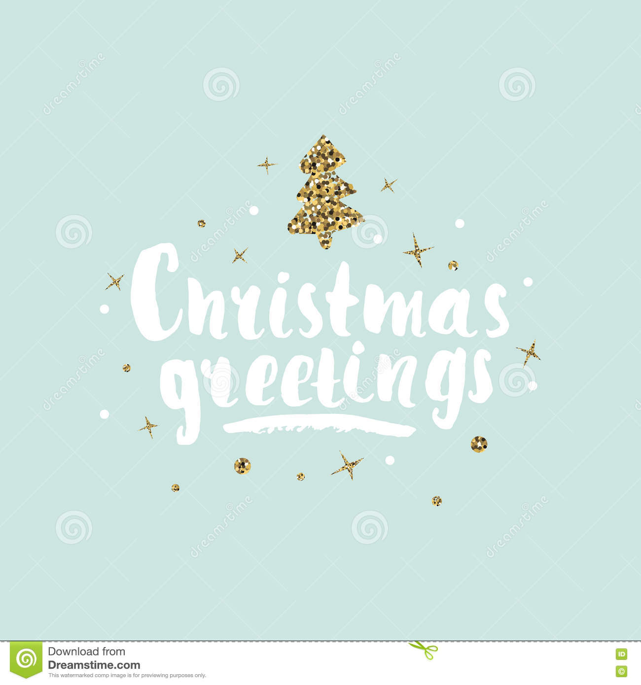 Christmas Greetings Holiday Unique Handwritten Lettering