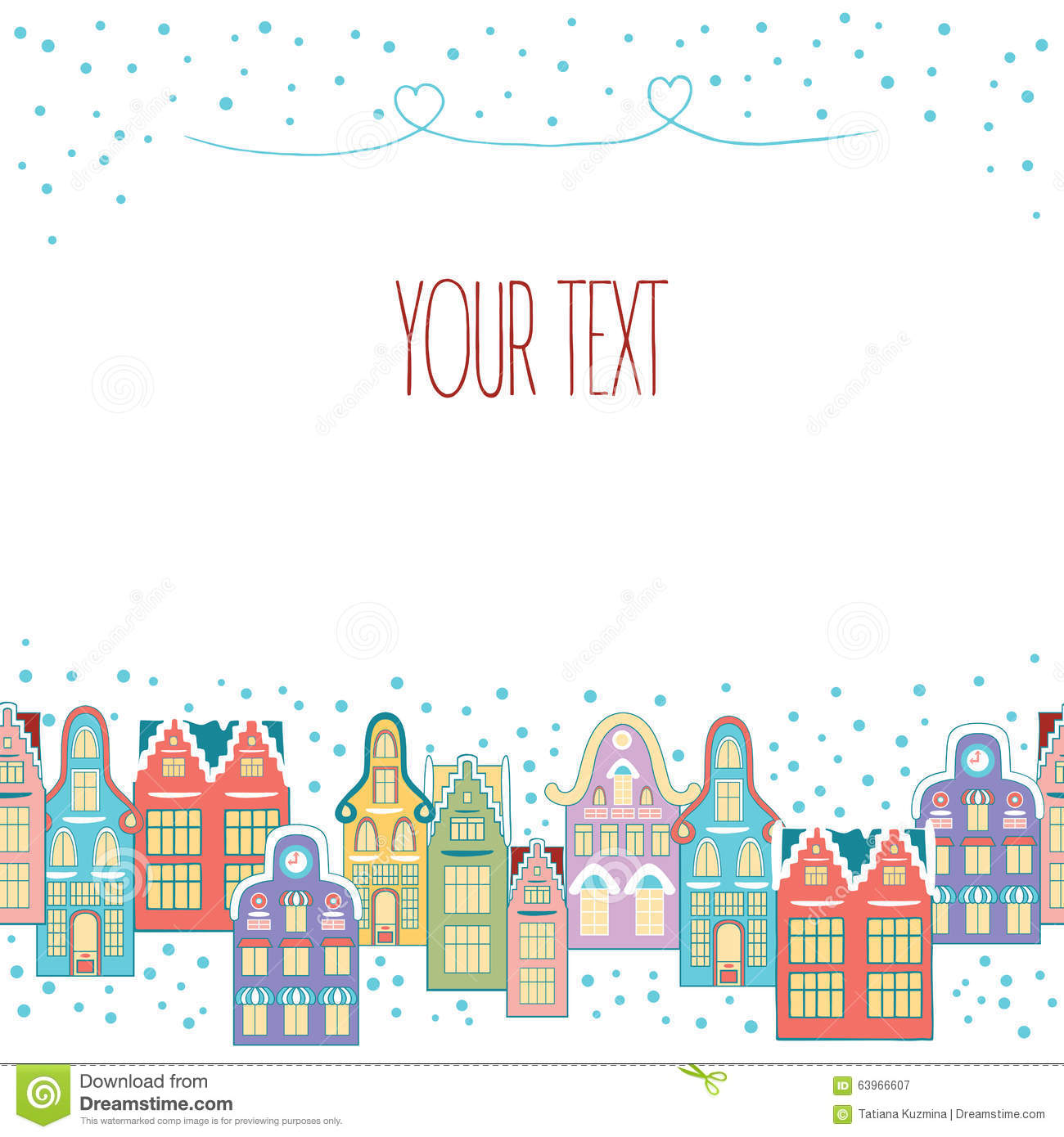 Christmas Hand Drawn Border Vector Illustration