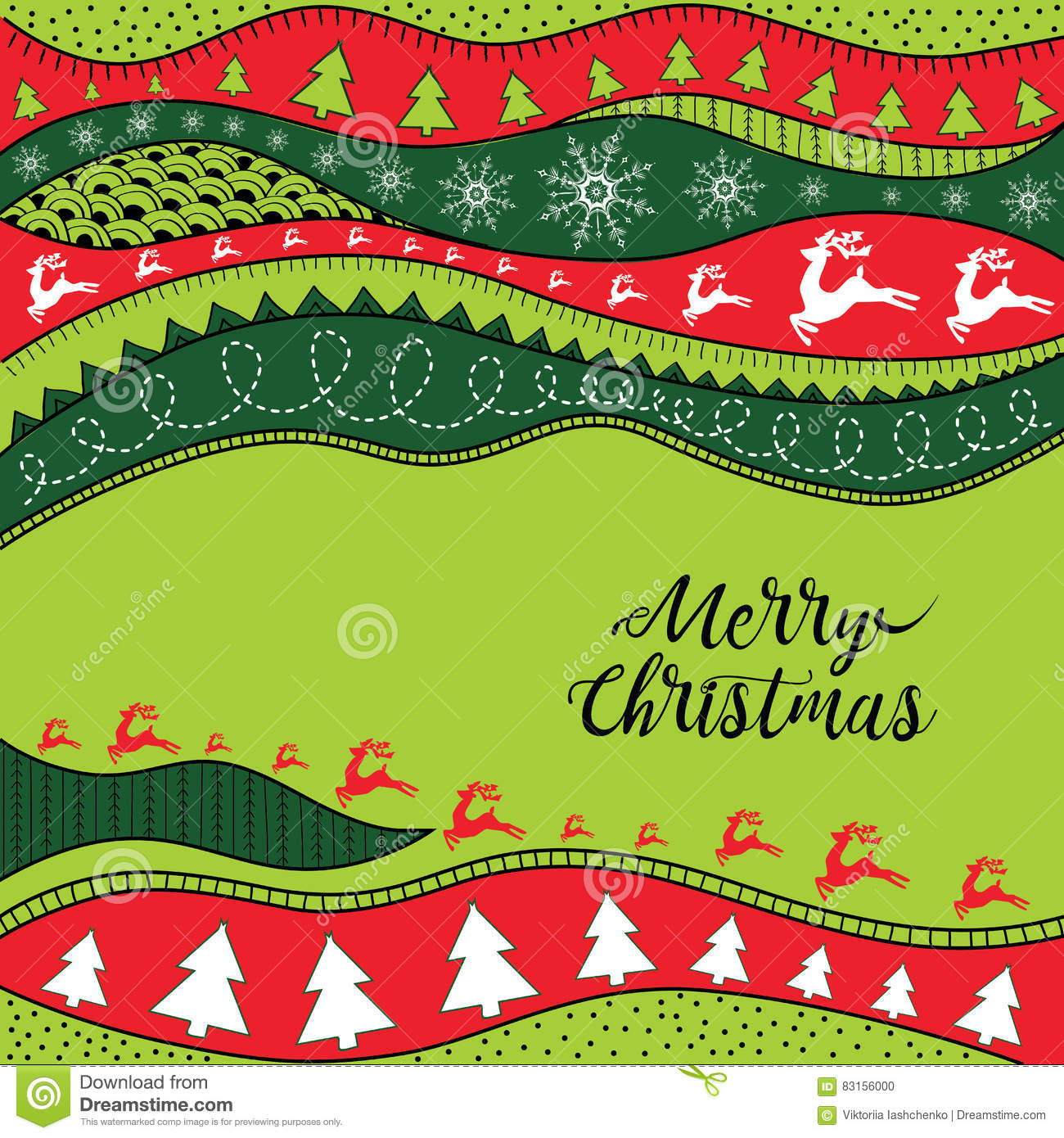 Christmas hand-drawn ethno pattern, tribal background. Merry Christmas design. It can be used for wallpaper, web page and others.