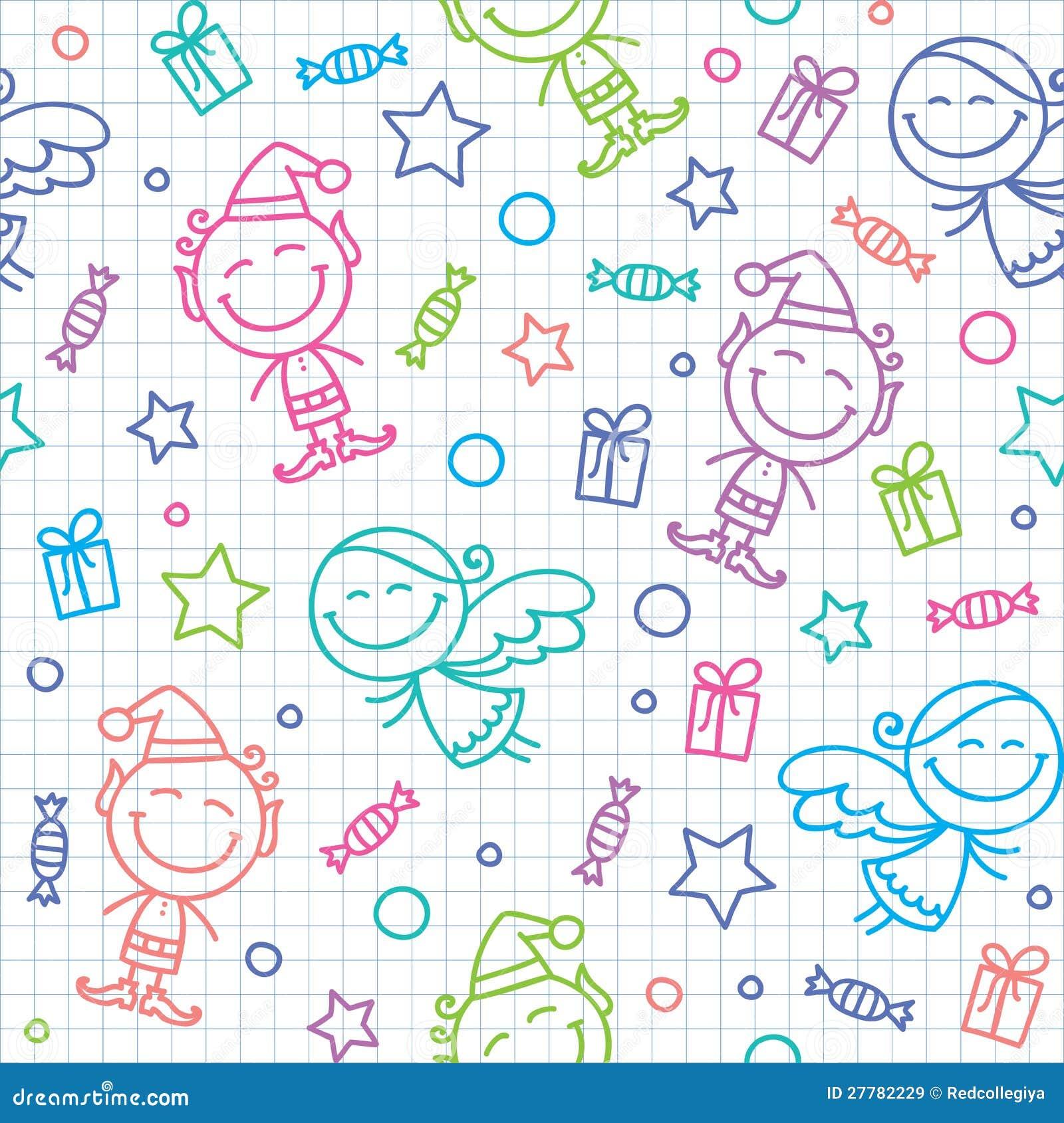 Christmas hand drawn pattern