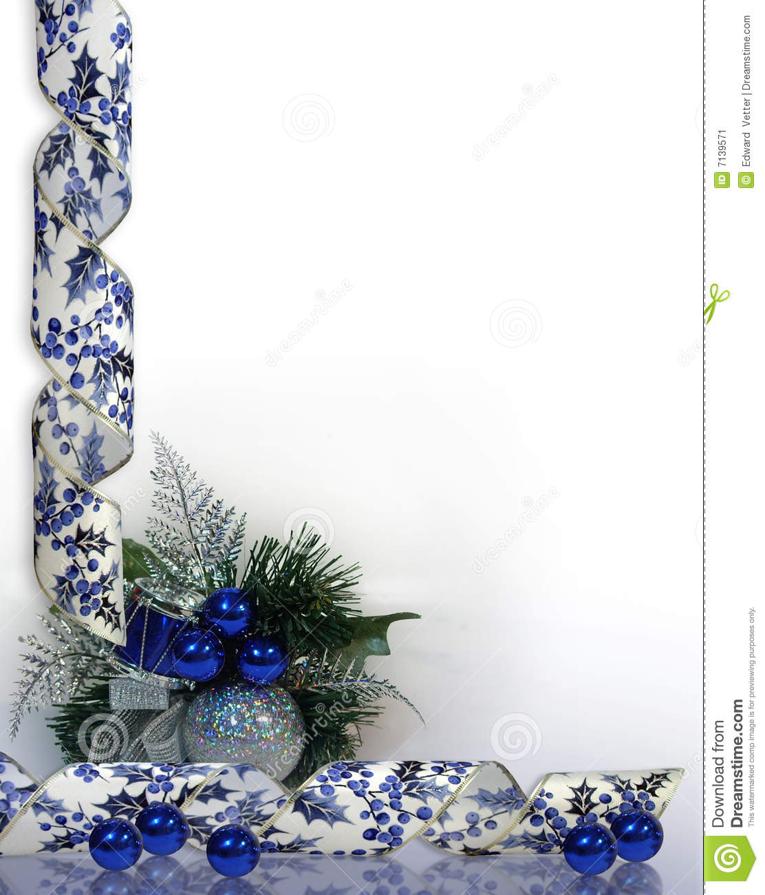 christmas or hanukkah background blue stock image