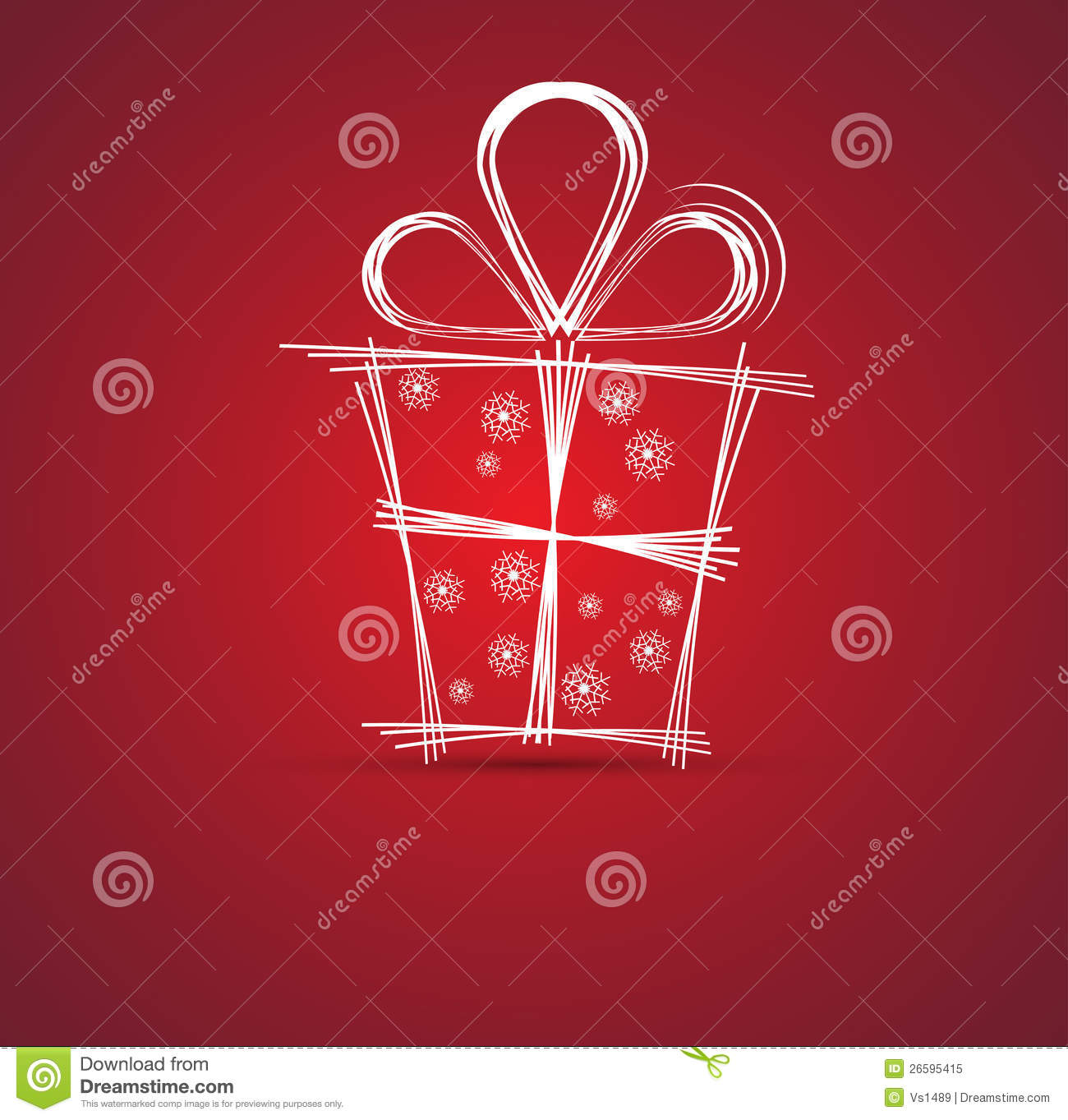 christmas and happy new year gift box background stock