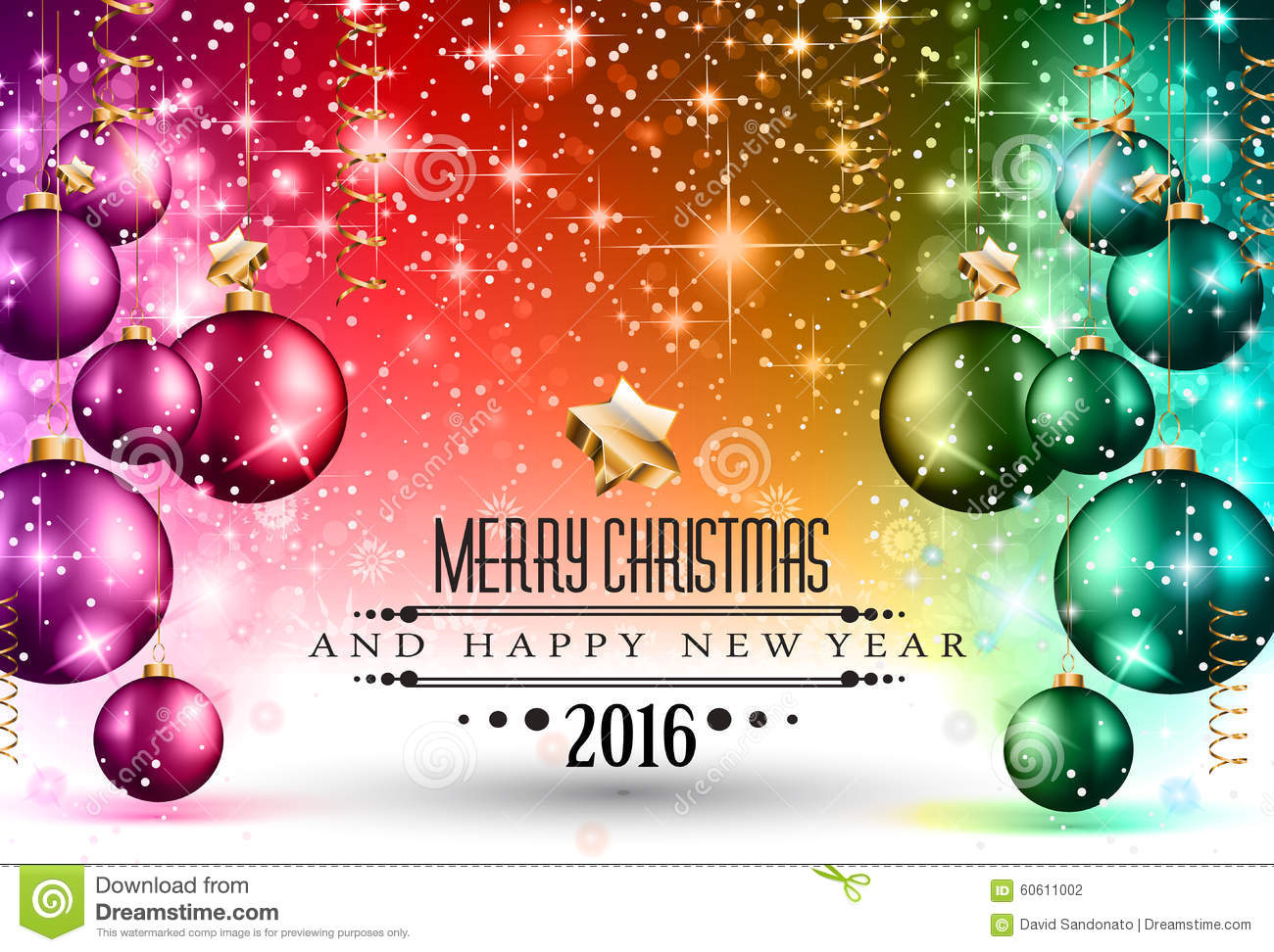 2016 christmas and happy new year party flyer stock vector 2016 christmas and happy new year party flyer stock photography stopboris Choice Image