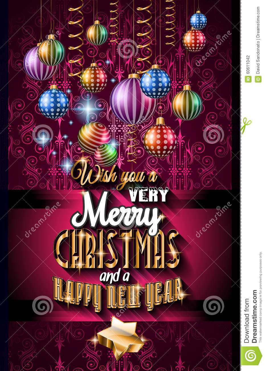 2016 christmas and happy new year party flyer stock vector image 2016 christmas and happy new year party flyer