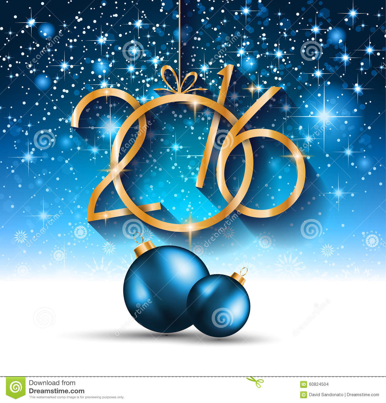 2016 Christmas And Happy New Year Party Flyer Stock Vector - Image ...