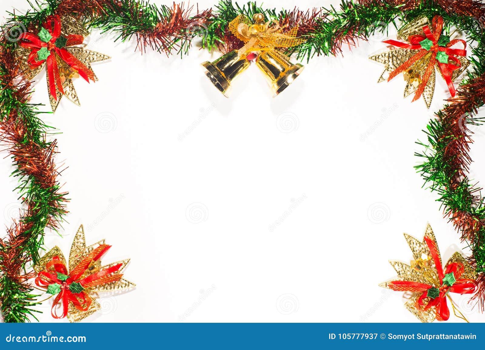 christmas and happy new year ribbon border