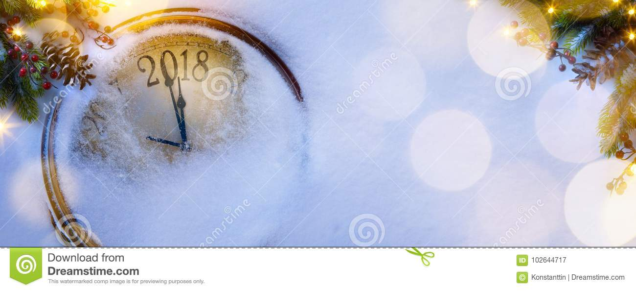Christmas and happy new years eve background; 2018