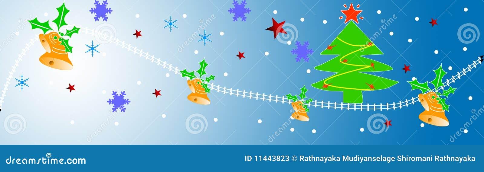 Christmas header stock illustration. Illustration of merry - 11443823