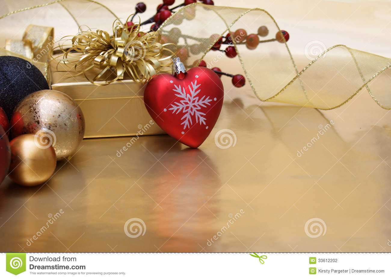 Christmas heart background stock photography image