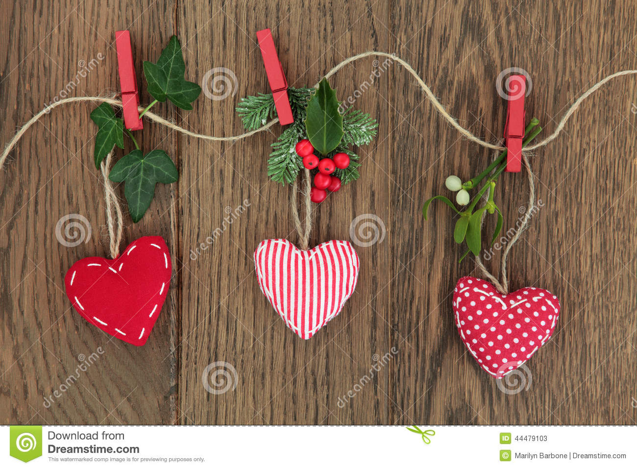 Christmas Heart Decoration.Christmas Heart Decorations Stock Image Image Of Green