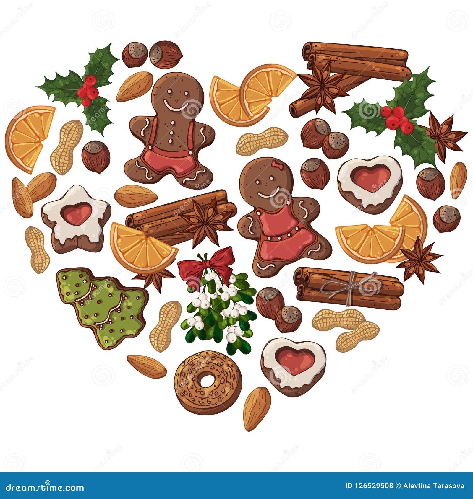Christmas Heart Vector.Christmas Heart Stock Vector Illustration Of Contain