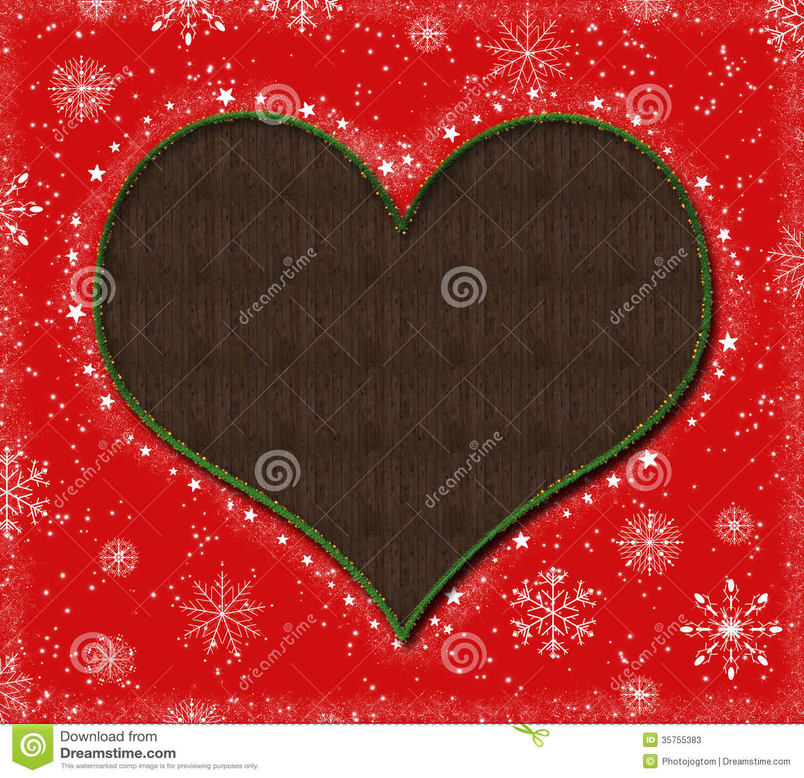 Christmas heart stock photos image