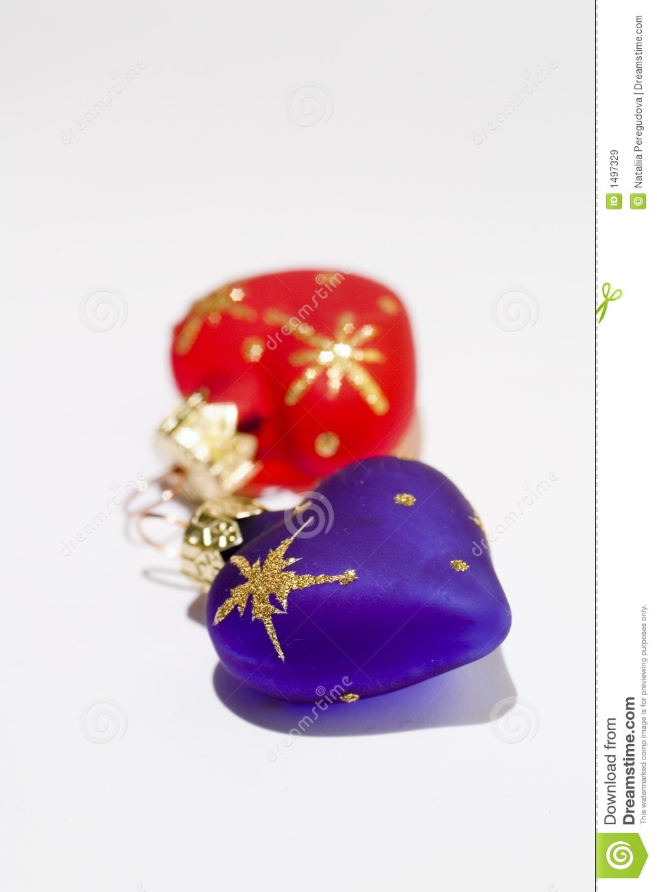 Christmas heart shaped decoration royalty free stock for Heart shaped decorations home
