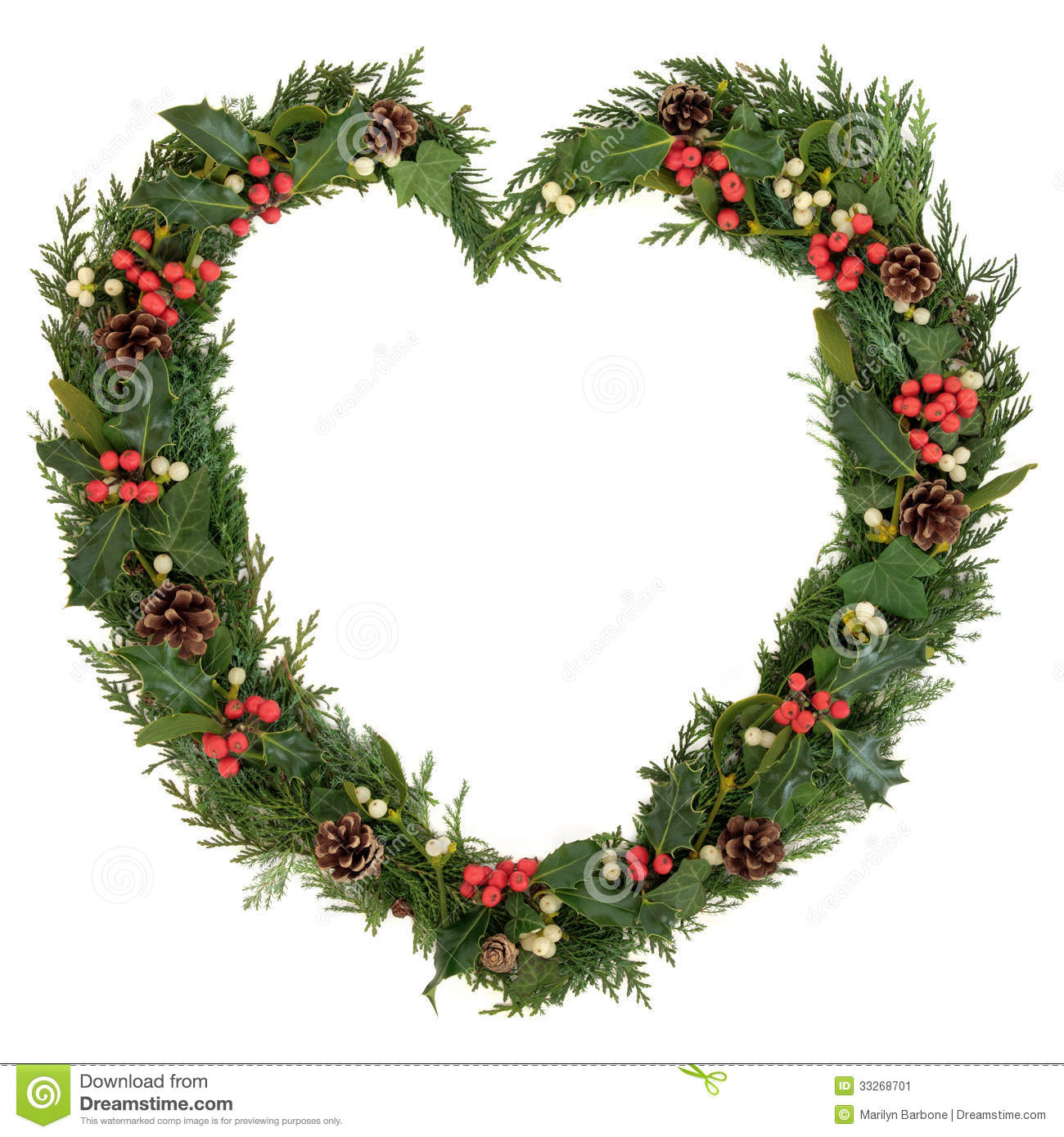 christmas heart wreath stock image image of floral  holly holly berry clip art border holly berry clip art free black while