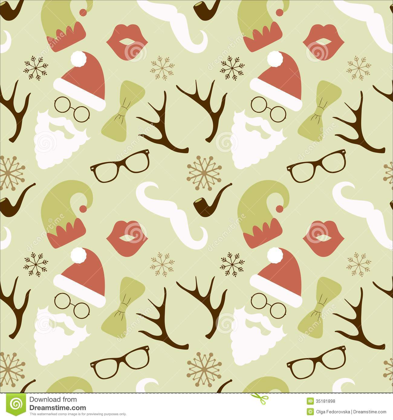 Christmas Hipster Retro Seamless Pattern Royalty Free Stock Photos ...