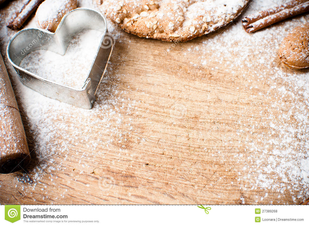 Christmas And Holiday Baking Background Royalty Free Stock