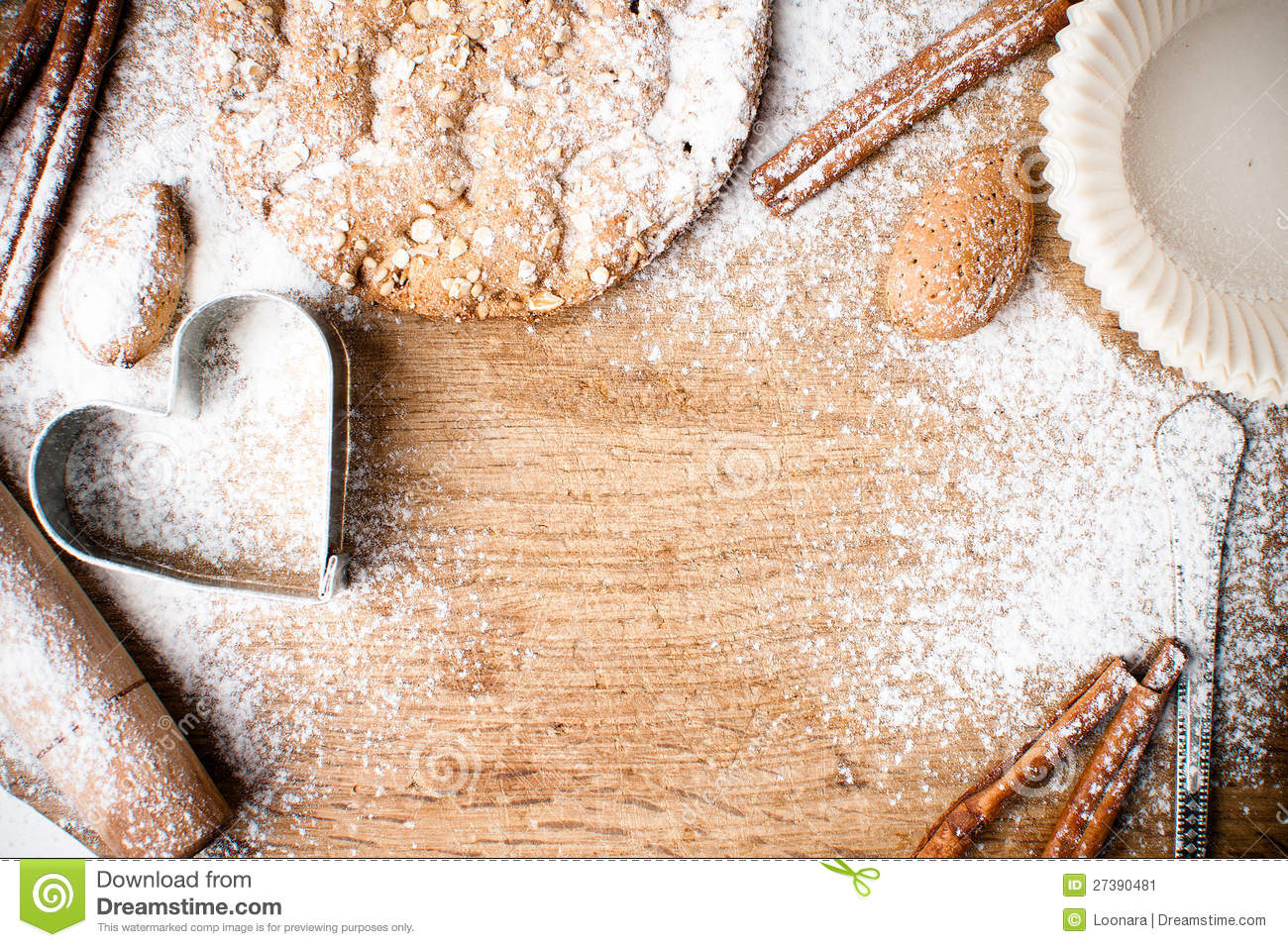 christmas baking background with -#main