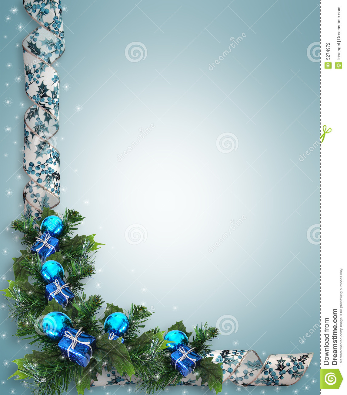 ... Christmas or Hanukkah card or background with blue and white ribbons