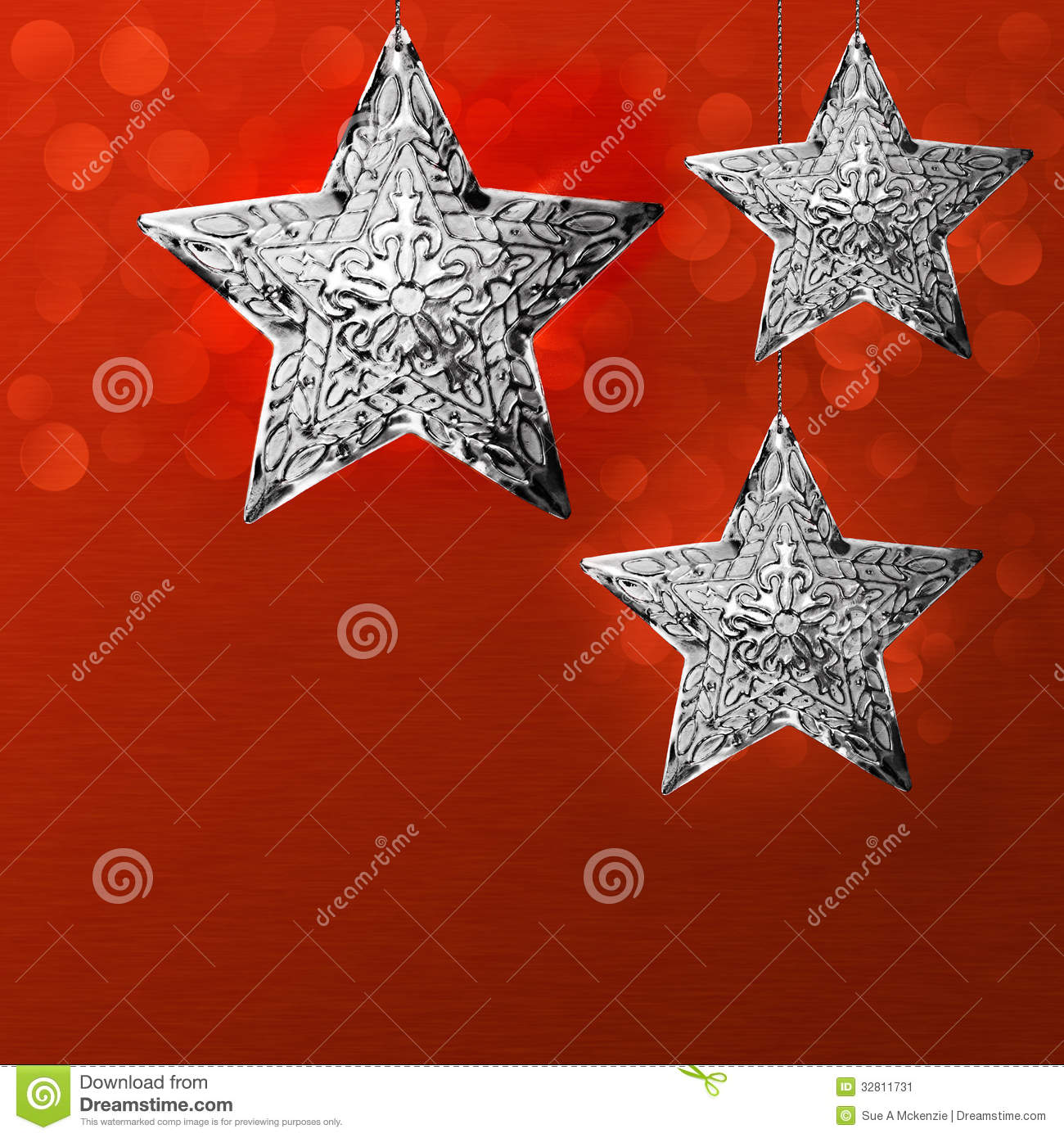 Christmas Holiday Card Background Design Silver Star