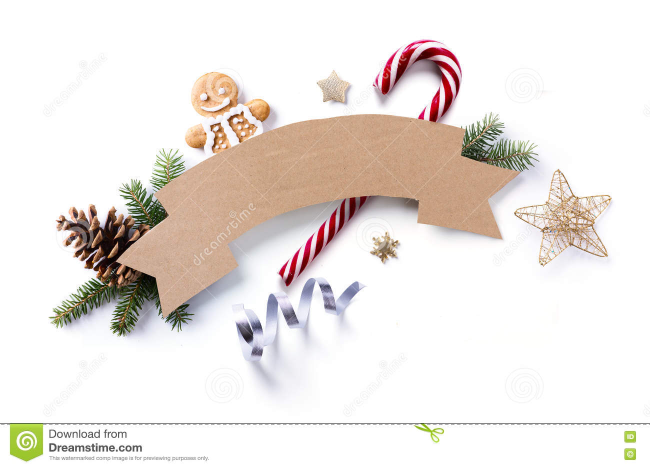 Christmas Holiday Decoration Element; Christmas Fir Tree Branch ...