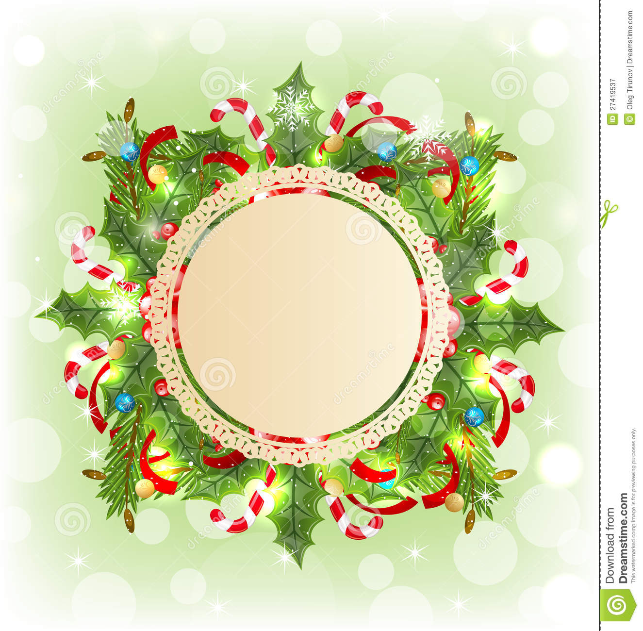 Christmas holiday decoration with greeting card stock vector christmas holiday decoration with greeting card kristyandbryce Image collections