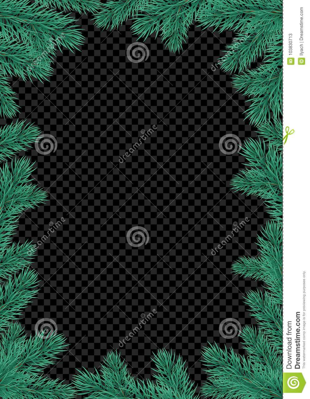 Christmas Holiday Greeting Card Background Template Of New Year Fir