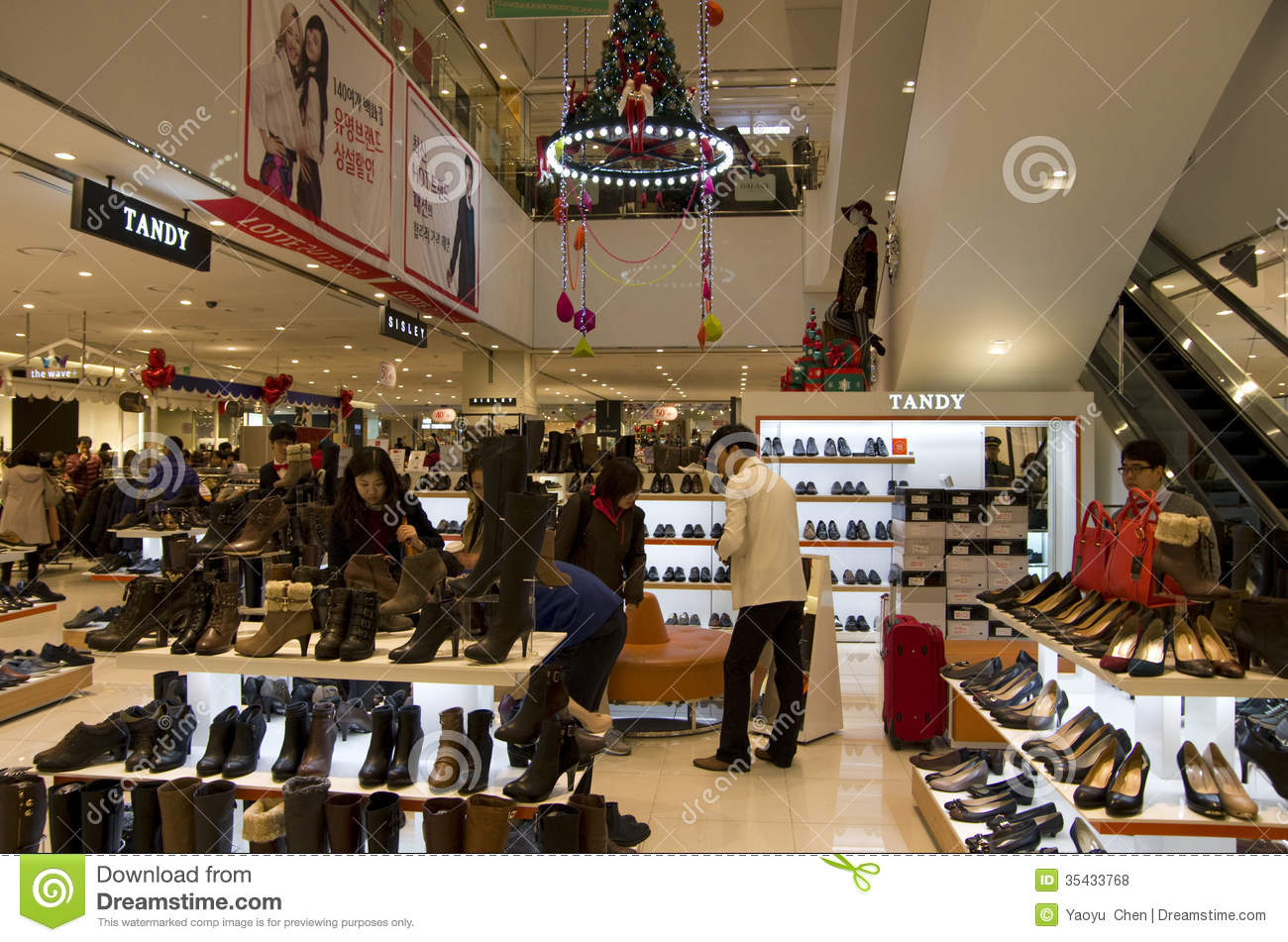 84a51ab03e Christmas Holiday Shopping Mall Shoe Store Editorial Stock Photo ...