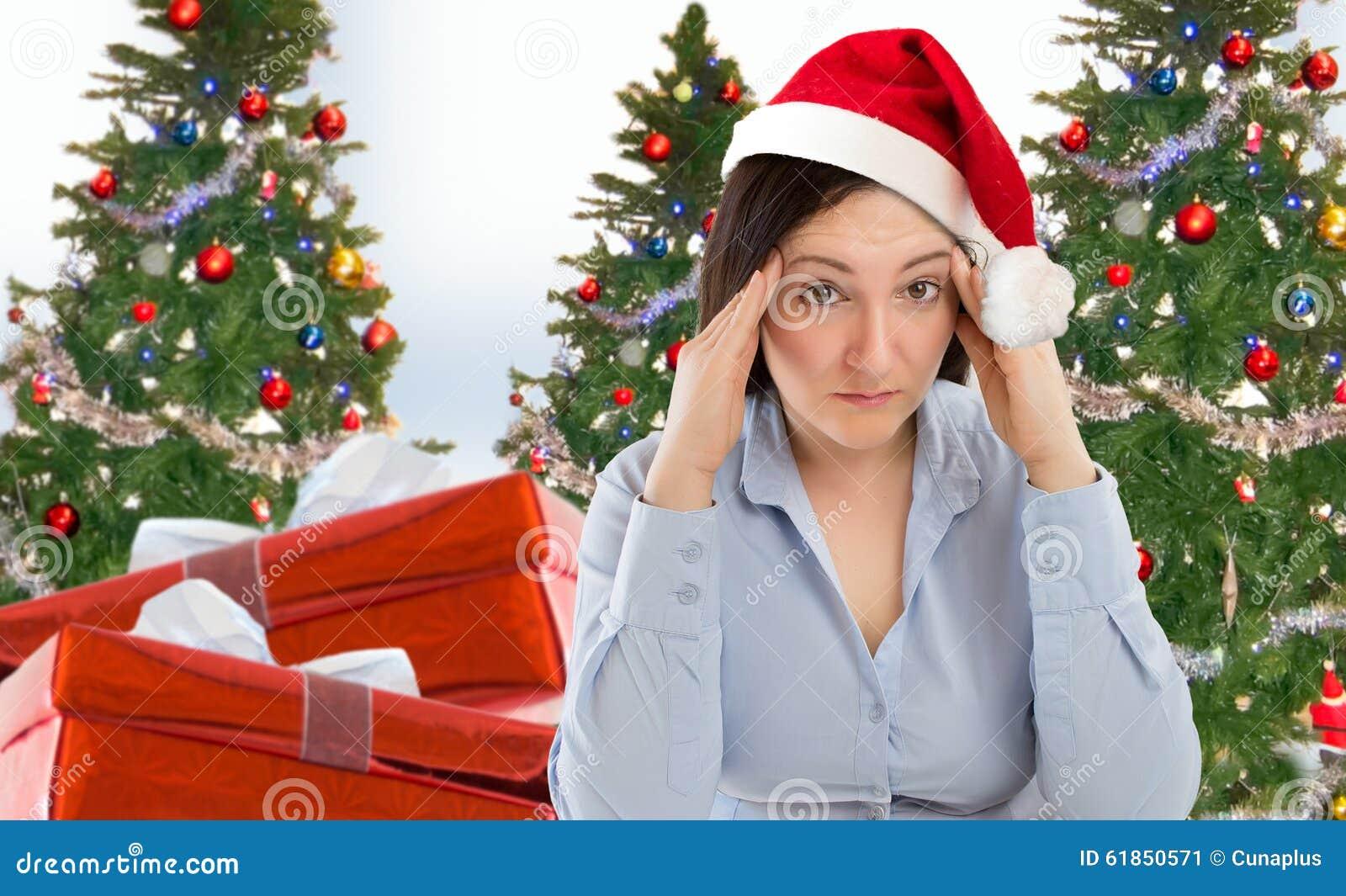Christmas Holiday Stress Stock Photo Image 61850571