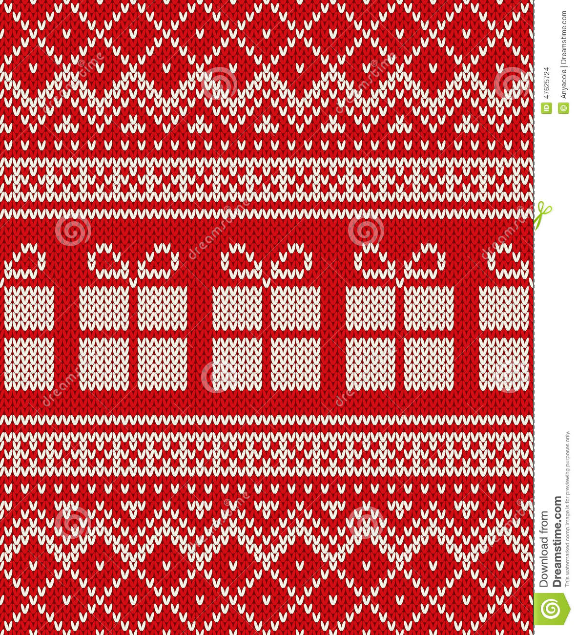 Knitting Pattern Christmas Cardigan : Christmas Holiday Sweater Design With Gift Boxes. Seamless Patte Stock Vector...