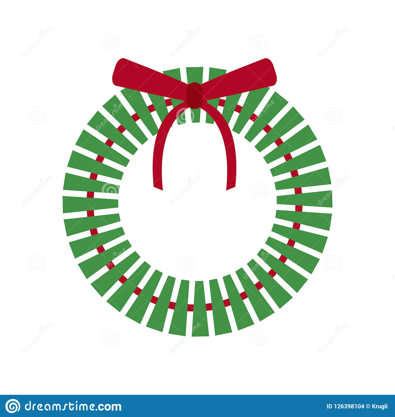 Christmas Holiday Wreath Icon Stock Vector Illustration Of Ornament Festive 126398104