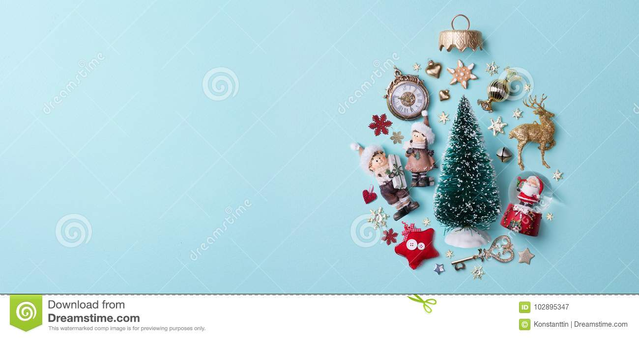 Christmas holidays composition on papaer background