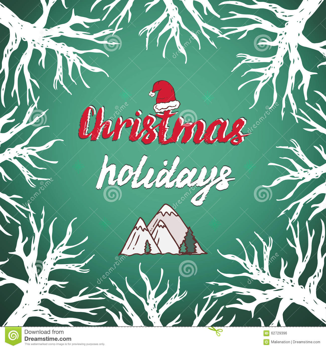 Christmas holidays greetings card with lettering vector trees christmas holidays greetings card with lettering vector trees background kristyandbryce Image collections